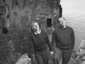 Ingrid Bergman e Roberto Rossellini ad Amalfi nel 1949